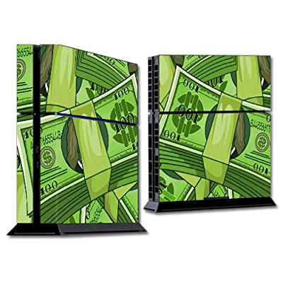 MightySkins Skin Compatible with Sony Playstation 4 PS4 Console wrap Sticker Skins All About The Benjamins