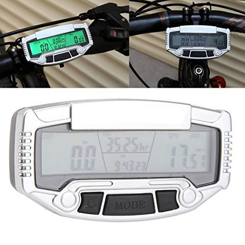 YBZS Computadora Inalámbrica para Bicicletas,Montaña Ordenador para Bicicleta/Cuentakilómetros Inalámbrico/Velocímetro De La Bici/Temperatura...