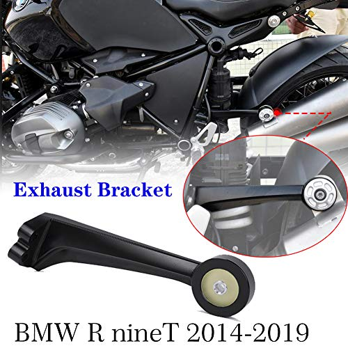 XX eCommerce Motorcycle RNineT CNC Exhaust Muffler Pipe Hanger Bracket Mount Holder for 2014-2020 BMW R Nine T R9T Accessories 2015 2016 2017 2018 2019