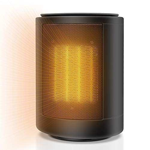Heater 1500W Portable electric, PTC ceramic heating, 3s fast heat,2 Heat Settings,Over-heat & Tip-over Protection,Smart thermostat,Large wide angle heating