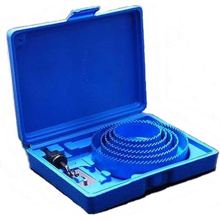 ShopXJ ホールソー 19~127mm 16PCS 切削深さ25mm バイメタルホールソー 木工用 木材/PVCボード/プラスチックに対応 穴あけ 収納ケース付き 16Pc (19 22 25 28 32 38 44 54 64 76 89 102 127mm セット)