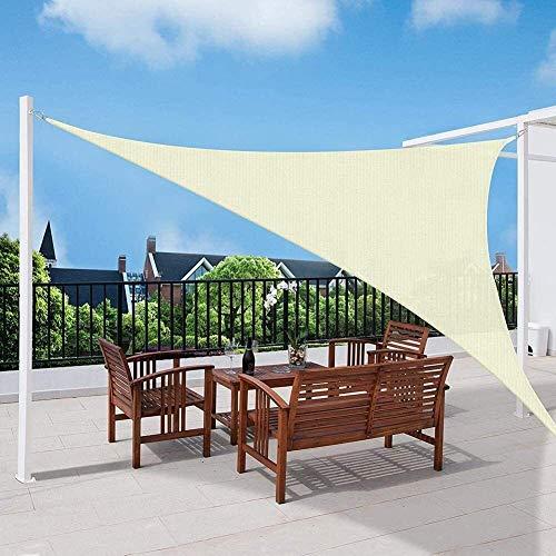 95% UV Sun Sail Shade Toldo Toldo Bloque Triángulo Impermeable con Cuerda for Patios al Aire Libre Jardín Pergola Piscina (Color: Beige, Tamaño: 3.6X3.6X3.6M) li