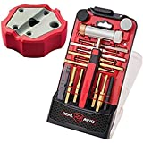 Real Avid Accu-Punch Hammer & Punches Set with Smart Bench Block, Combo (Hammer & Brass Punches + Bench Block)