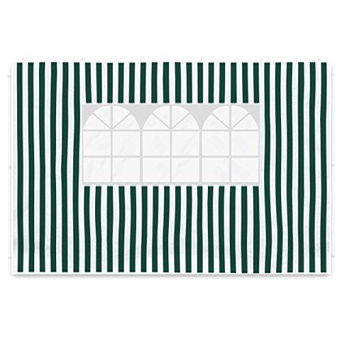 2 Seitenteile Seitenwände Seitenplanen mit je 1 Fenster für PE-Pavillon Partyzelt 3 m grün weiß
