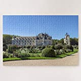 Jigsaw Puzzles 1000 Pieces For Adults Large Piece Puzzle Chateau De Chenonceau In The Loire Valley France Wooden Intellectual Jigsaw Puzzle Fun Challenging Family Game Toys Gift Wall Decoration