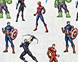 Avengers Assemble Kinderstoff – Captain America Hulk