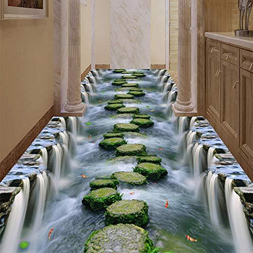 3D Boden Tapete PVC Tragen rutschfeste wasserdichte Verdickte Selbstklebende Wandbilder Aufkleber Hotel Badezimmer Dekor