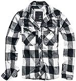 Brandit Check Shirt Herren Baumwoll Hemd L Weiss-schwarz