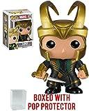 Funko Pop! Marvel: Thor The Dark World - Loki With Helmet #36 Vinyl Figure (Bundled with Pop Box Protector Case)