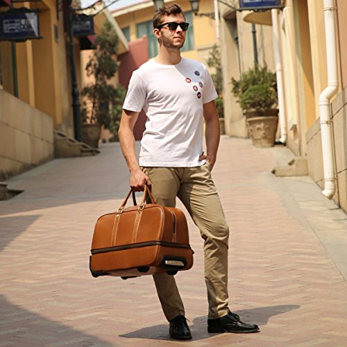 Leathario Reisetasche aus Rindsleder – Trolley - 7