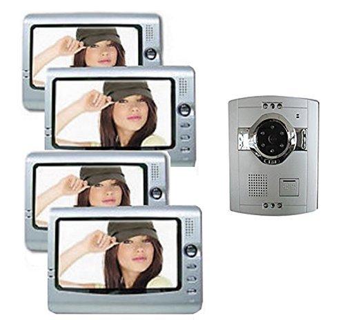 Kit Gegensprechanlage Sprechanlage für Haus mit Mehreren Ebenen: 4Monitor und Kamera