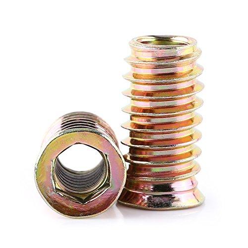 20 Stück Gewindebuchse Einschrauben Einschlagmutter Innensechskant Verzinktes Carbon Stahl M6 M8 M10 Vollgewinde(M8*25mm)