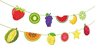 Tutti Frutti Banner,Watermelon Banner,Strawberry Banner,Lemon Banner,GrapefruitBanner,Tutti Frutti/Luau/Tiki/Tropical/Hawaiian Party Supplies /Decoration for Girls,Boys,Kids,Home,School,Baby Showers,1st Birthday