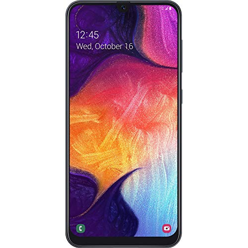 Simple Mobile Carrier-Locked Samsung Galaxy A50 4G LTE Prepaid Smartphone - Black - 64GB - Sim Card Included - GSM