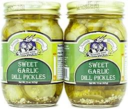 Amish Wedding All-Natural Sweet Garlic Dill Pickles 15 Ounces (2 Jars)