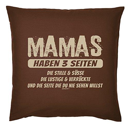 Art & Detail Shirt Coussin : Maman Mom Fête des Mères – Mamas 3 parties ont le silence et Douceur – Comme Présent