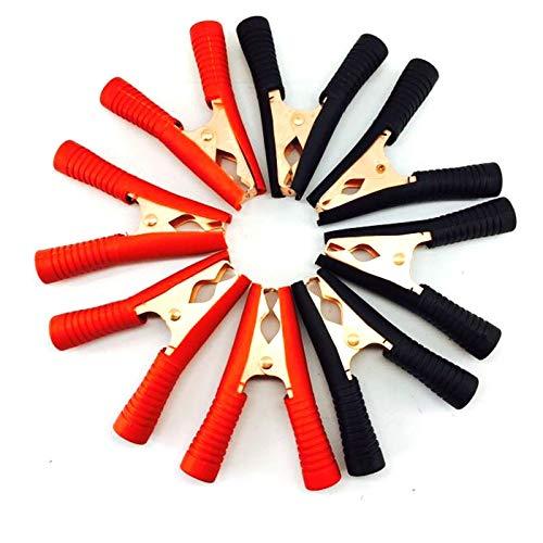 juqingshanghang1 Prueba de Potencia de la batería Terminal 2 Pinzas cocodrilo batería de Coche Clip de cocodrilo Clip de conexión 100A Negro Red Eléctrica (Color : 4pcs 2 Black 2 Red)
