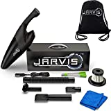 JARVIS Car Vacuum Cleaner High Power Portable Interior Cleaning Wet Dry Microfiber Towel 12V Corded