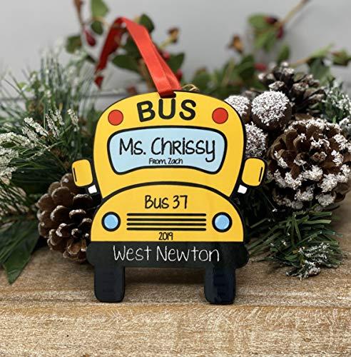 None-brands Christmas Xmas Decor 2020 Ornament Personalized ornament, custom bus driver ornament, bus driver Xmas ornament, personalized Xmas ornament, Teacher