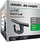 Rameder Attelage démontable avec Outil pour Fiat DOBLO Cargo + Faisceau 7 Broches (150457-04743-1-FR)