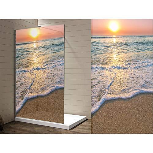 AufkleberDealer.de wasserdichte Folie für Ihre Dusche, Sichtschutz Duschabtrennung, hochwertiger Druck auf Glasdekor -Folie in Sandstrahl -Optik mit satinierten Oberfläche