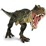 Geminismart 大迫力 30cm級 恐竜の王者 フィギュア ブランド 恐竜ティラノサウルス 霸王龙 恐竜 シミュレーション 子供のためのおもちゃ 人形劇 おもちゃ 知育玩具 男の子のおもちゃ両足自立 PVC 口開閉 (ティラノサウルスGreen T-Rex)