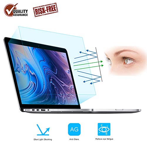 FORITO 2PCS Compatible with MacBook Pro 13' Screen Protector Blue Light Filter, Blue Light Blocking Anti Glare Screen Protector for MacBook Pro 13 Model A1706 A1708 A1989 A2159 A2289 A2251