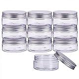 BENECREAT 10 Satz 80ml Säule Kunststoff klar Vorratsbehälter Gläser Organizer mit Aluminium...