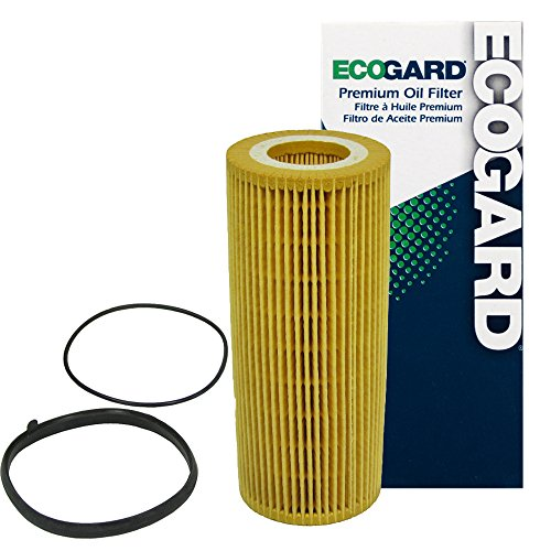 ECOGARD X5598 Premium Cartridge Engine Oil Filter for Conventional Oil Fits Audi Q7 3.0L 2011-2015, A6 Quattro 3.0L 2009-2014, A6 Quattro 3.2L 2005-2008, Q5 3.0L 2013-2017, S4 3.0L 2010-2016