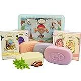 Un Air d'Antan Beauty Set Weihnachtsgeschenk. 4 Stück Seifen mit Bio Arganöl, Sheabutter oder...