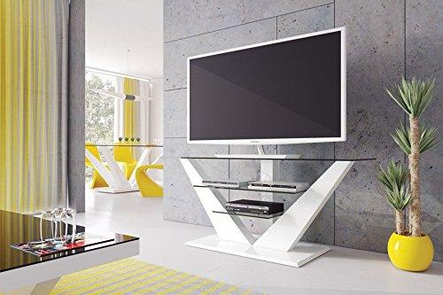 Meuble TV Design - Couleur : Blanc Laque