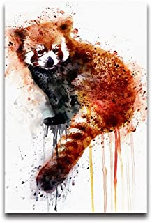 NewPostersWorld Super Cute Watercolor Painting Red Panda Customized Decorative Creative Art Posters Home Modern Decoration Print Decor For Living Room Custom Poster 12