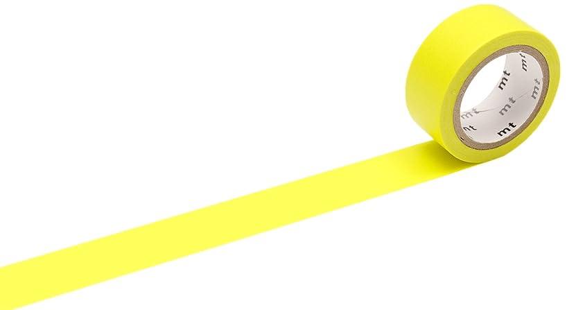 MT MTFC1P04Z Fab Washi Masking Tape - Fluorescent Yellow