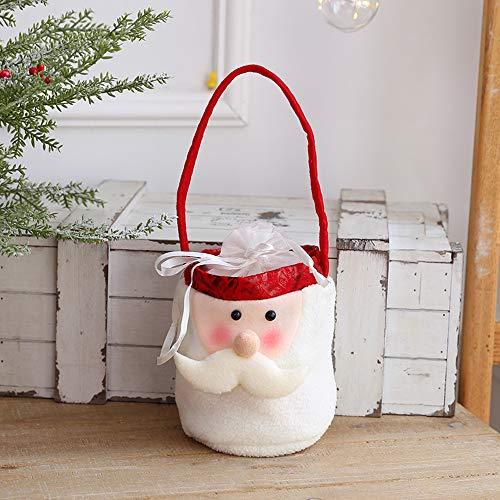 ASDZ Decoración navideña Bolsa Reutilizable,Desmontables,Distintos a Elegir,Hacen Que el Hogar esté Lleno de Ambiente Navideño,Medias de Regalo de Saco de Navidad para la decoración
