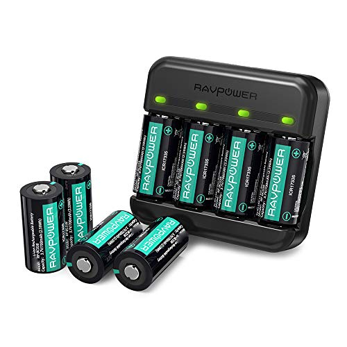 Wiederaufladbare Arlo Akku RAVPower 8er-Pack 700mAh und Akku Ladegerät für Arlo VMC3030 VMK3200 VMS3330 3430 3530 Kabellose Sicherheits Kameras