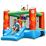 ACTION AIR Bounce House, Inflatable Bounce House with Air Blower, Bouncy Castle with Durable Sewn and Extra Thick, Family Backyard Jump House, Great Gift for Kids (9451)