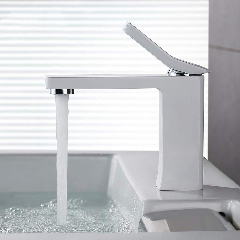ZHUAPP Bad Wasserhahn Warmes Und Kaltes Becken Kupfer Wasserhahn Einlochmontage Einzeltisch Becken Weier Becken Wasserhahn