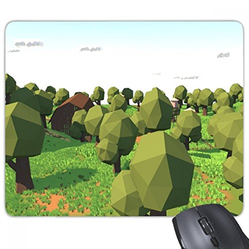 Boerderij Spel Boom Helling Scene Rechthoek Niet-slip Rubber Mousepad Game Mouse Pad Gift