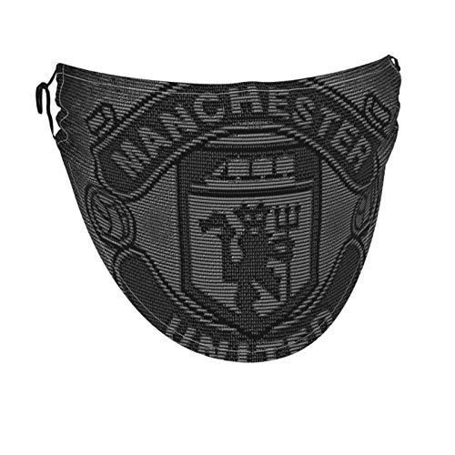Fußball Man-Chester Uni-ted F.C. Offener Gesichtsschutz Staubmasken Helm Magic Wiederverwendbar Waschbar Verstellbar Zum Radfahren, Sportwandern Herren Damen Erwachsene