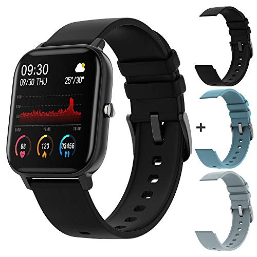 XYDXDY Reloj Inteligente Hombres Full Touch Fitness Tracker Presión Arterial Reloj Inteligente Mujeres GTS Smartwatch 1.4 Pulgadas -11