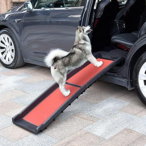 WIUANG Hunderampe Auto, Matte rutschfeste Oberfläche Hundetreppe, (200LBS) Ultraleicht, Für Einfachen Transport Kofferraumrampe Für Haustiere, Tierrampe Einstiegshilfe Für Kofferraum(2021)