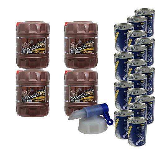 80 L de aceite de motor Peco idrive 210 10 W-40 16 x Mannol Motor Doctor Additiv