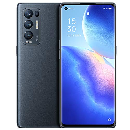 """Original Oppo Reno 5 Pro+ Plus 5G Smartphone 12G+256GB 6.55"""" 90HZ AMOLED Snapdragon865 Android11 50MP IMX766 Camera 65W SuperVOOC 4500mAh OTG NFC Support Google by(Real Star Technology) (Black 12+256)"""