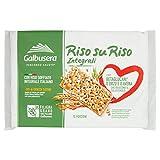 Galbusera Riso Su Riso, Cracker Integrali con Riso Soffiato, 380g...
