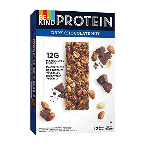 BE-KIND PROTEIN Dark Chocolate Nut – Barres protéinées de fruits à coque sans gluten – Pack de 12 barres
