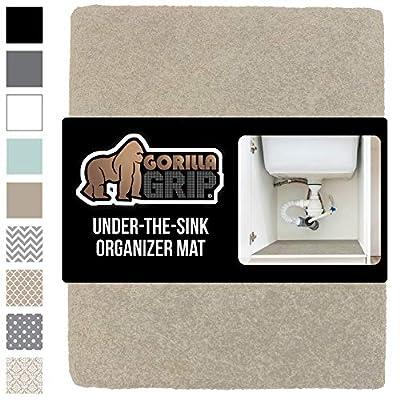 GORILLA GRIP Original Premium Under Sink Mat Shelf Liner, Non-Adhesive Absorbent Organizer Mats, Durable and Strong Waterproof Liners for Under Kitchen, Bathroom, Laundry Room Sinks