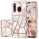 Samsung A50 Case,Fingic Samsung Galaxy A20 A30 Case Marble