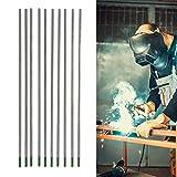 WP puro electrodo de tungsteno TIG Agujas de soldadura de arco de argón Varillas de soldadura de aguja pura para soldar acero inoxidable fino