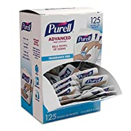 PURELL SINGLES Advanced Hand Sanitizer Gel, Fragrance Free, 125 Count Single-Use Packets - 9620-12-125EC