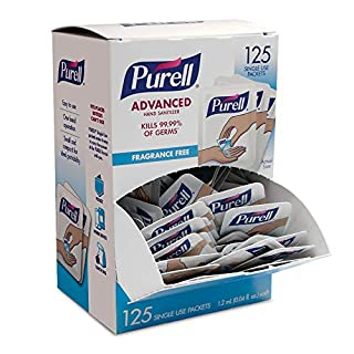 PURELL SINGLES Advanced Hand Sanitizer Gel, Fragrance Free, 125 Count Single-Use Packets - 9620-12-125EC (B01G1KP8C2) | Amazon price tracker / tracking, Amazon price history charts, Amazon price watches, Amazon price drop alerts